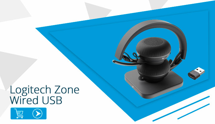 Logitech Zone Wired UC USB headset