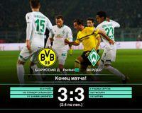 Вердер в сумасшедшем матче выбил дортмундскую Боруссию из Кубка Германии