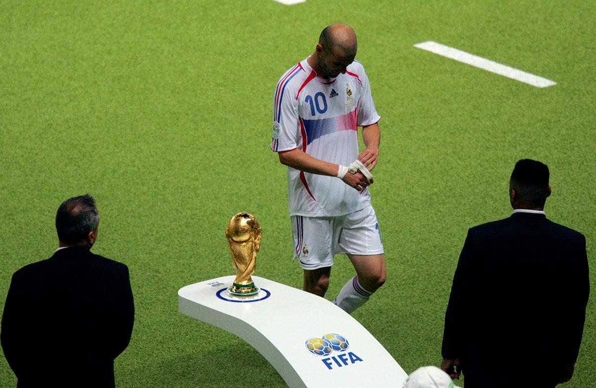 Зидан был удален в финале ЧМ-2006