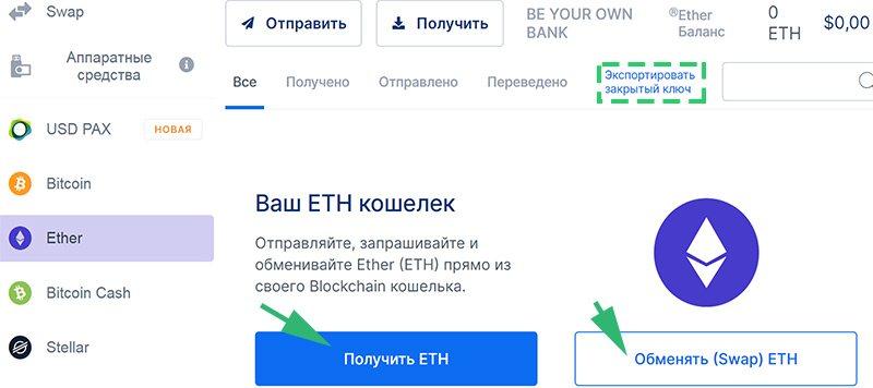 Пример страницы отдельной криптовалюты