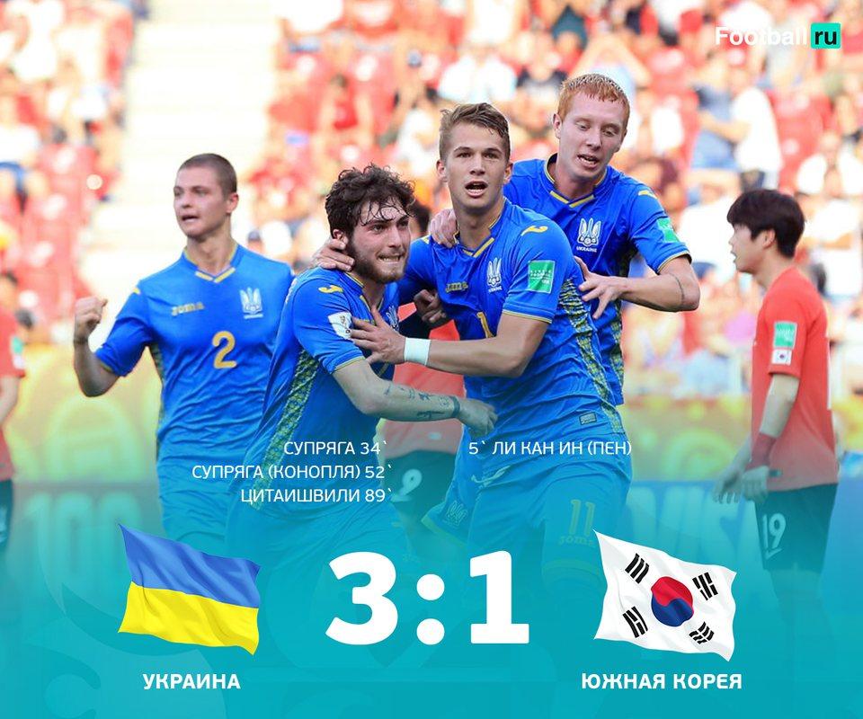Украина - Южная Корея 3:1