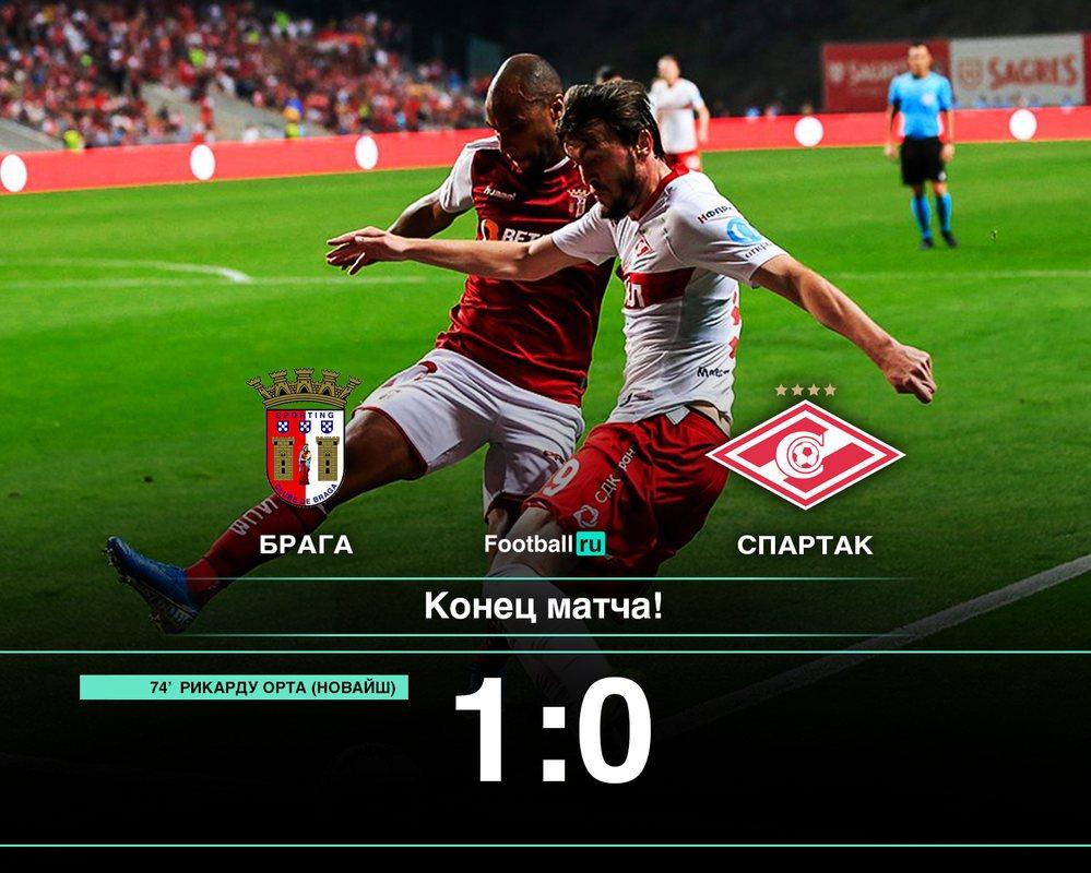 Брага - Спартак 1:0