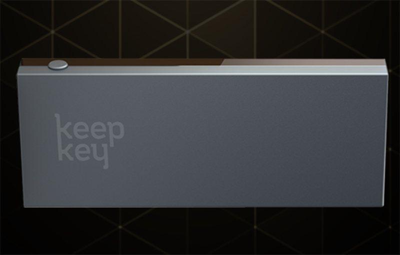 Внешний вид аппаратного кошелька KeepKey