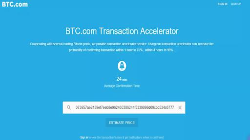 Как ускорить транзакцию Bitcoin через BTC.com