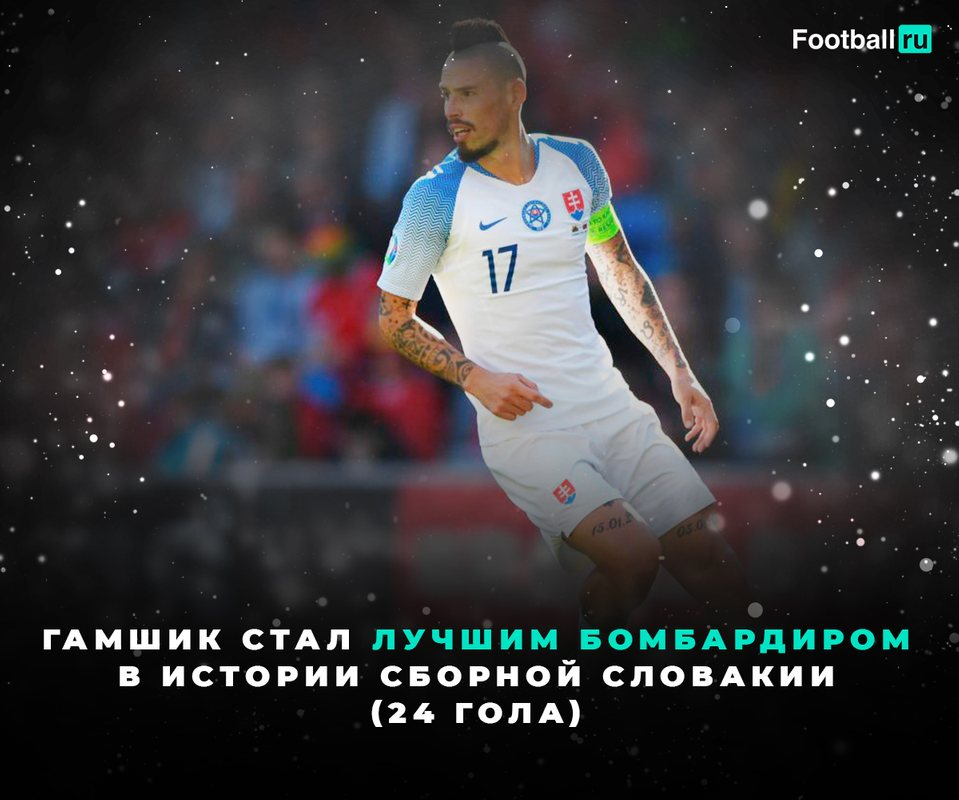 Гамшик - лучший бомбардир сборной Словакии