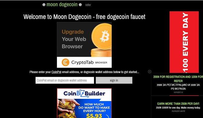 Крипто кран MoonDoge