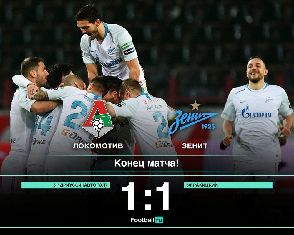 Локомотив не смог обыграть Зенит