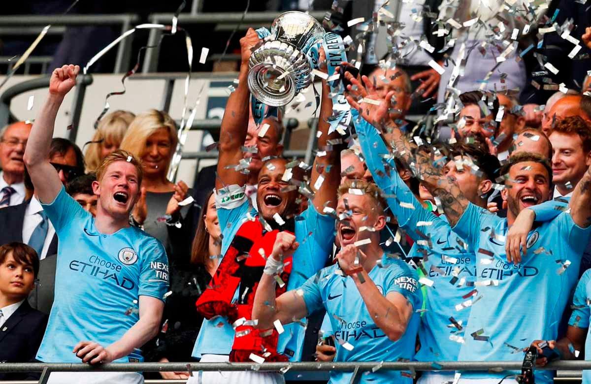 Манчестер Сити добавили Кубок Англии к победе в АПЛ и Кубке Лиги
