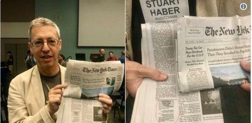 Первая публикация шифрованного кода в газете
