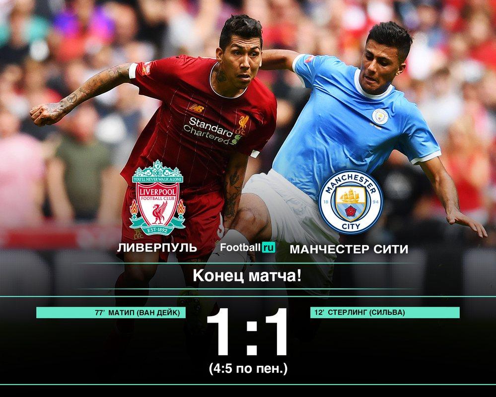 Ливерпуль - Манчестер Сити 1:1 (пен 4:5)