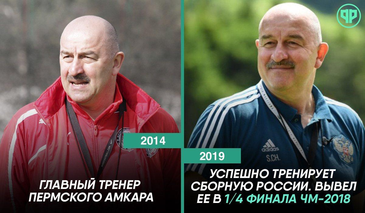 Станислав Черчесов тогда и сейчас