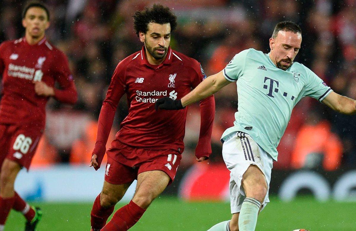 Мохамед Салах (Ливерпуль) против Франка Рибери (Бавария)