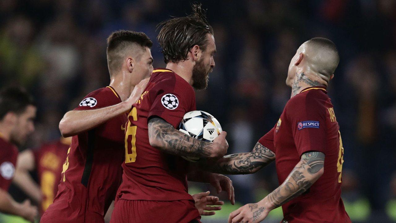 Даниэле Де Росси забил второй гол Барселоне
