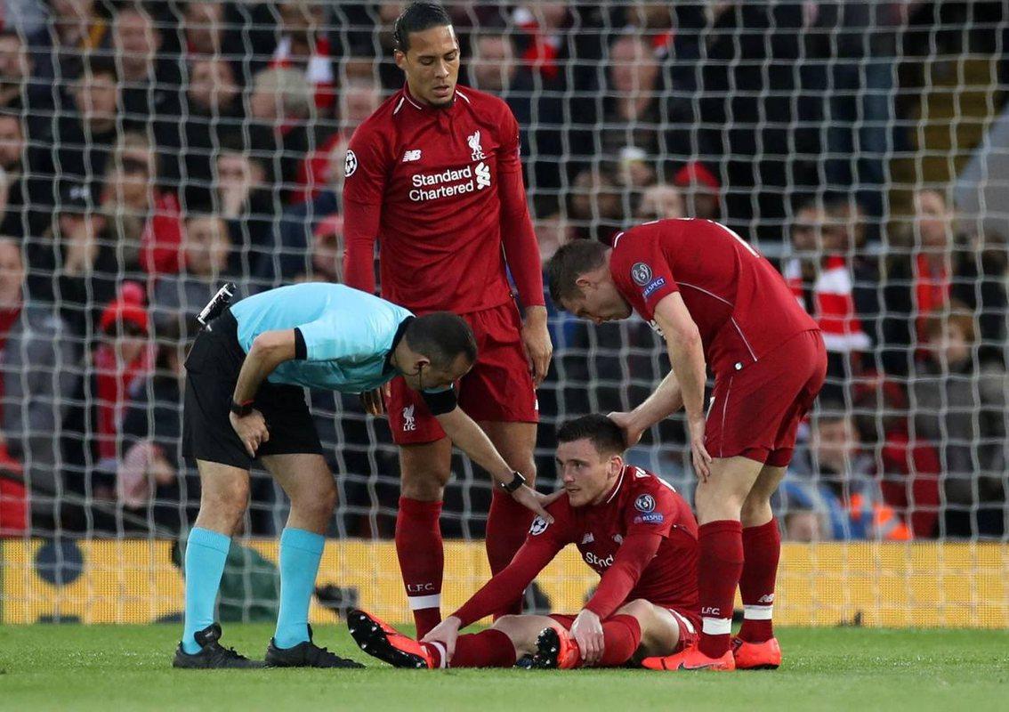 Травма Робертсона в матче против Барселоны