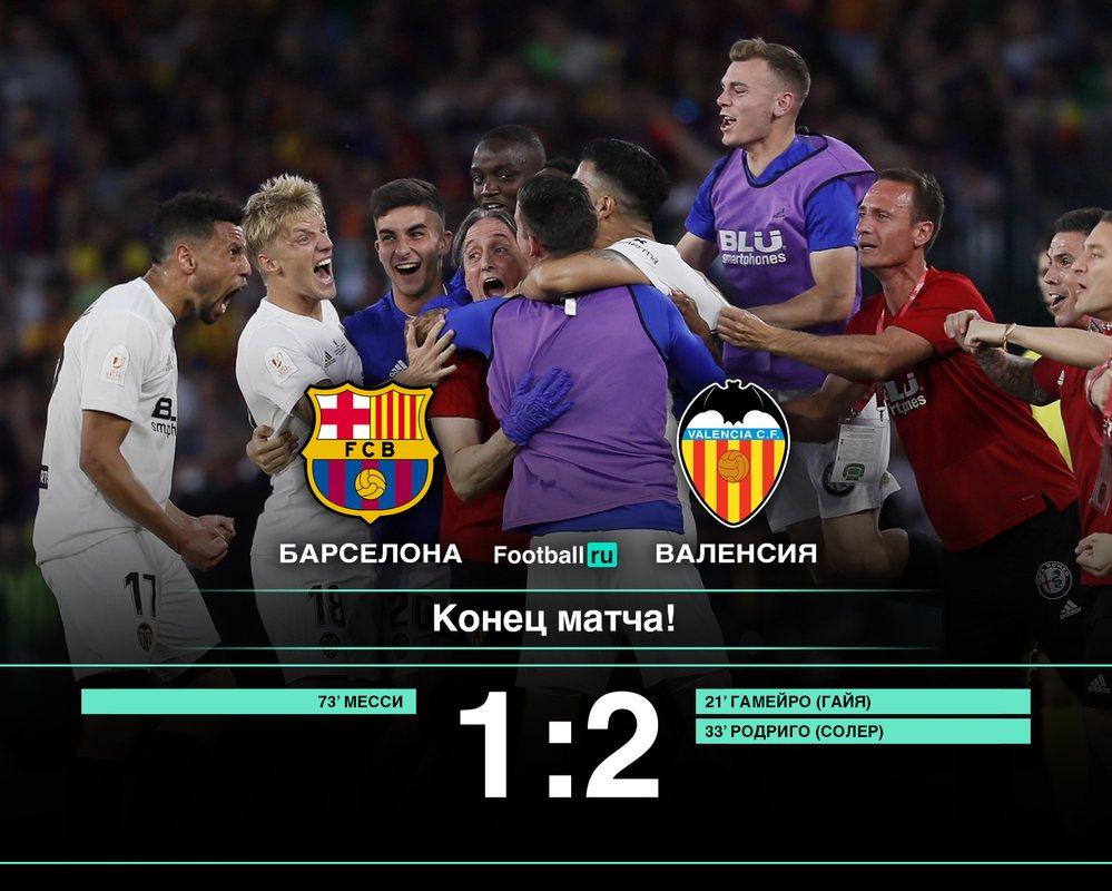 Валенсия выиграла Кубок Испании у Барселоны