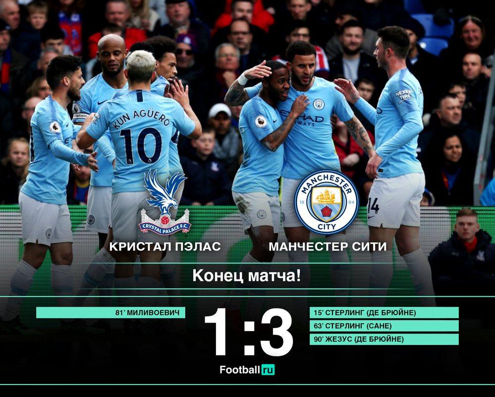 Кристал Пэлас - Манчестер Сити, 1:3