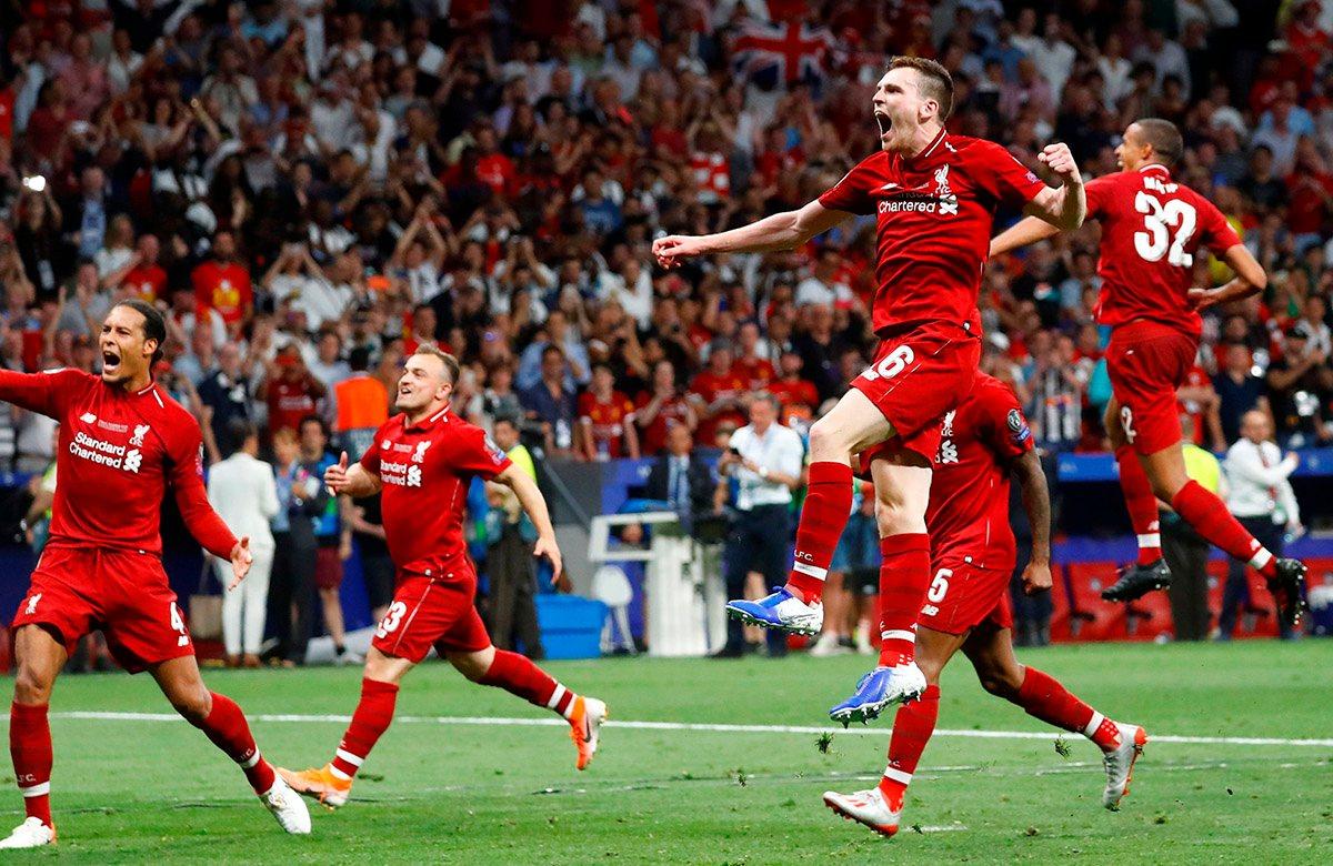 Энди Робертсон выиграл с Ливерпулем Лигу чемпионов