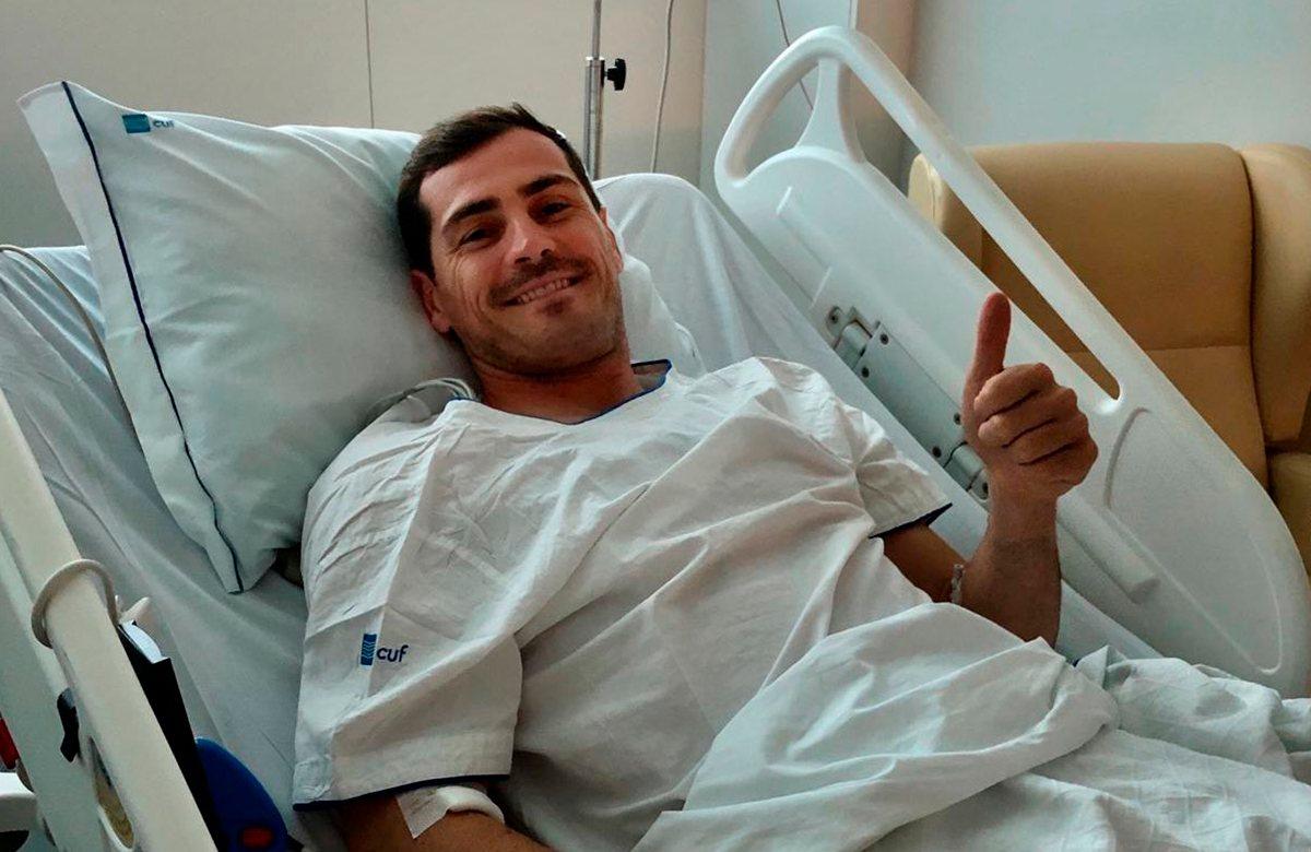 Икер Касильяс в больнице