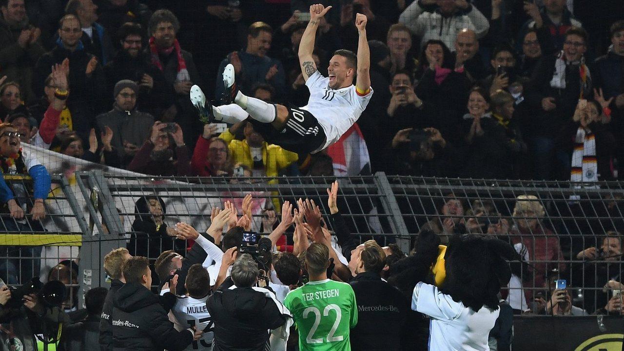 Прощание с Лукасом Подольски, сборная Германи