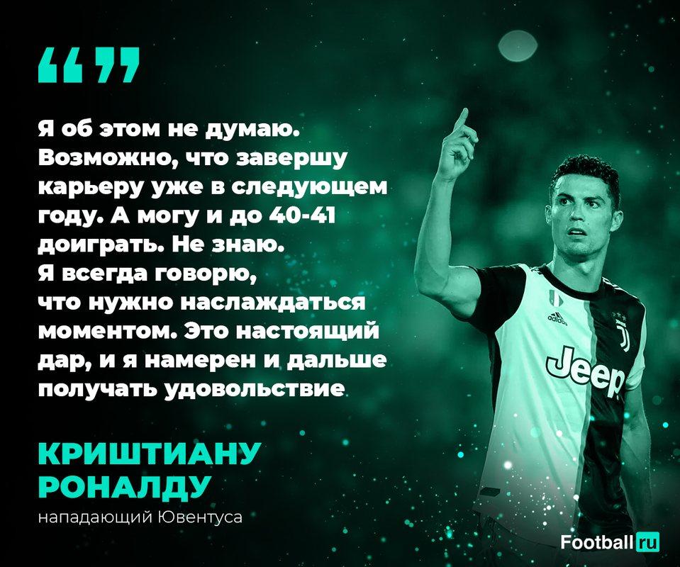 Роналду о завершении карьеры