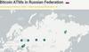 Карта биткоин-криптоматов в России  // Источник: coinatmradar.com