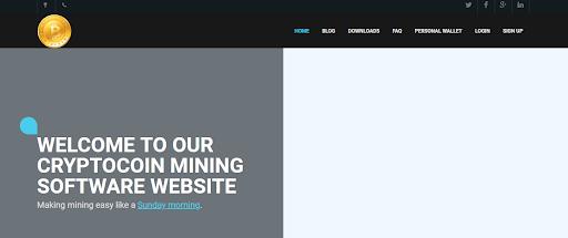 Официальный сайт программы EasyMiner