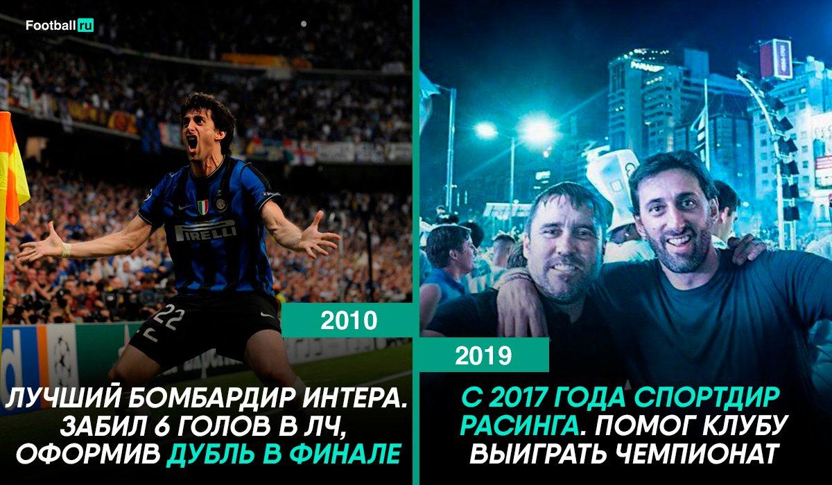 Диего Милито тогда и сейчас
