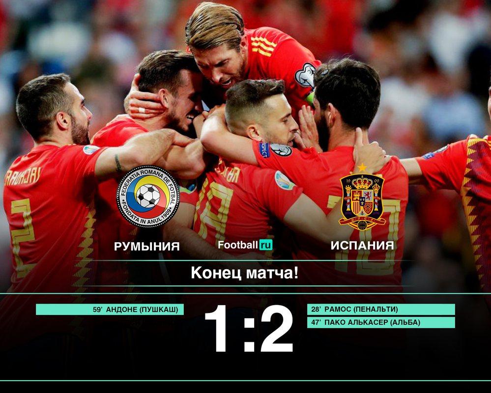 Румыния - Испания 1:2