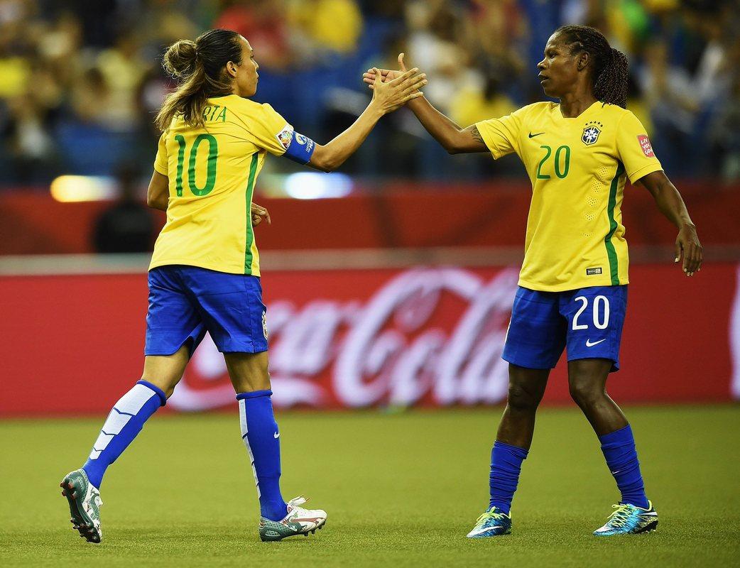Марта и Формига в составе сборной Бразилии
