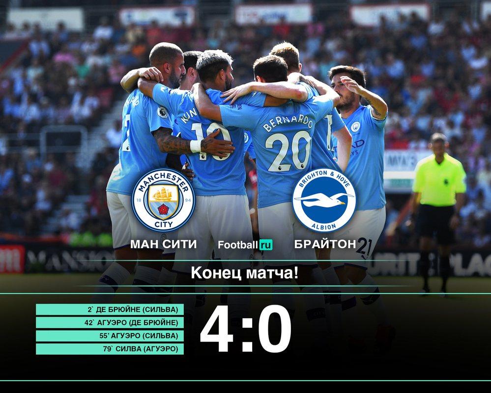 Манчестер Сити разгромил Брайтон, 4:0