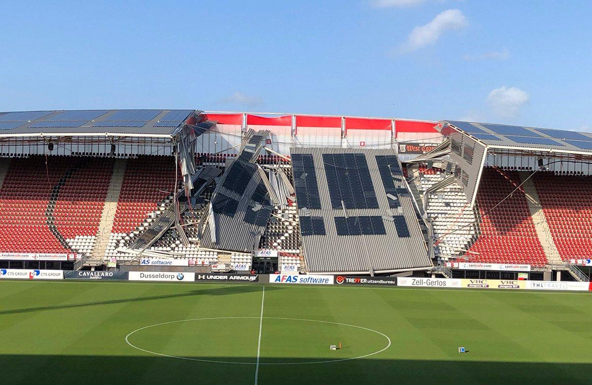 Стадион АЗ Алкмар пострадал от урагана