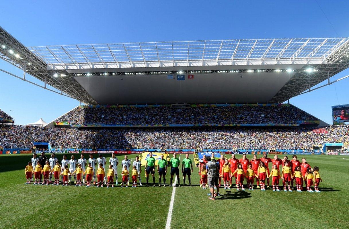Сборные Аргентины и Швейцарии перед матчем ЧМ-2014