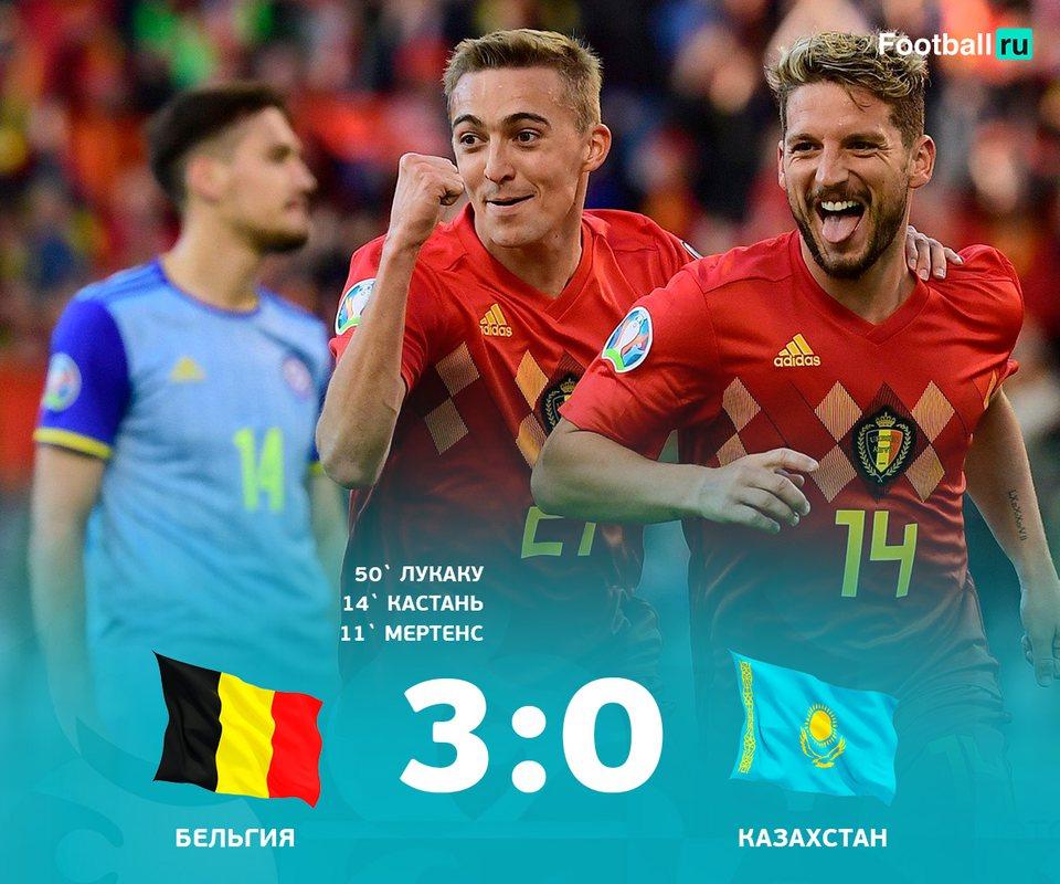 Бельгия без проблем разобралась с Казахстаном