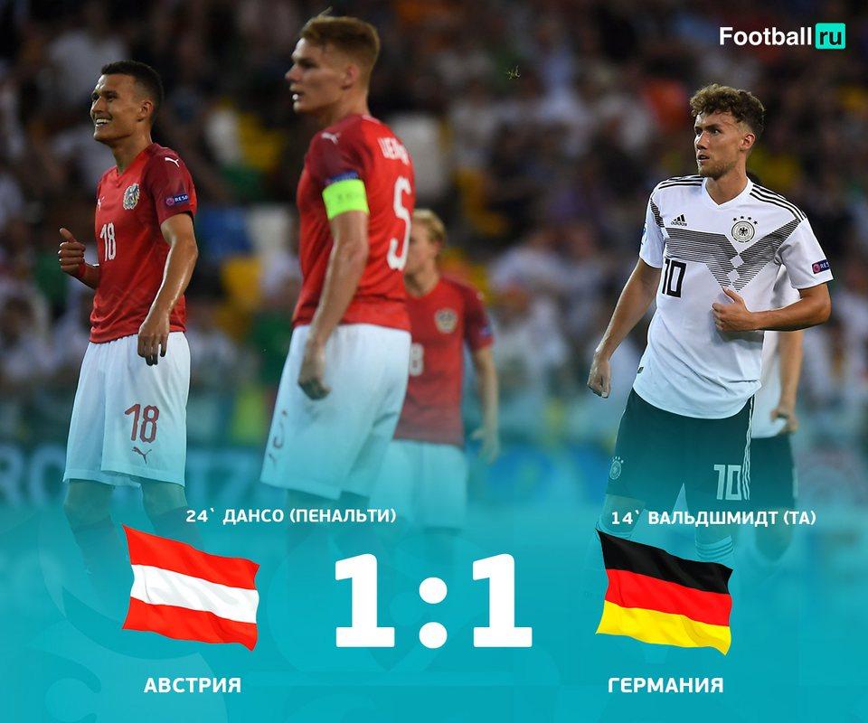 Германия прошла в плей-офф Евро U21