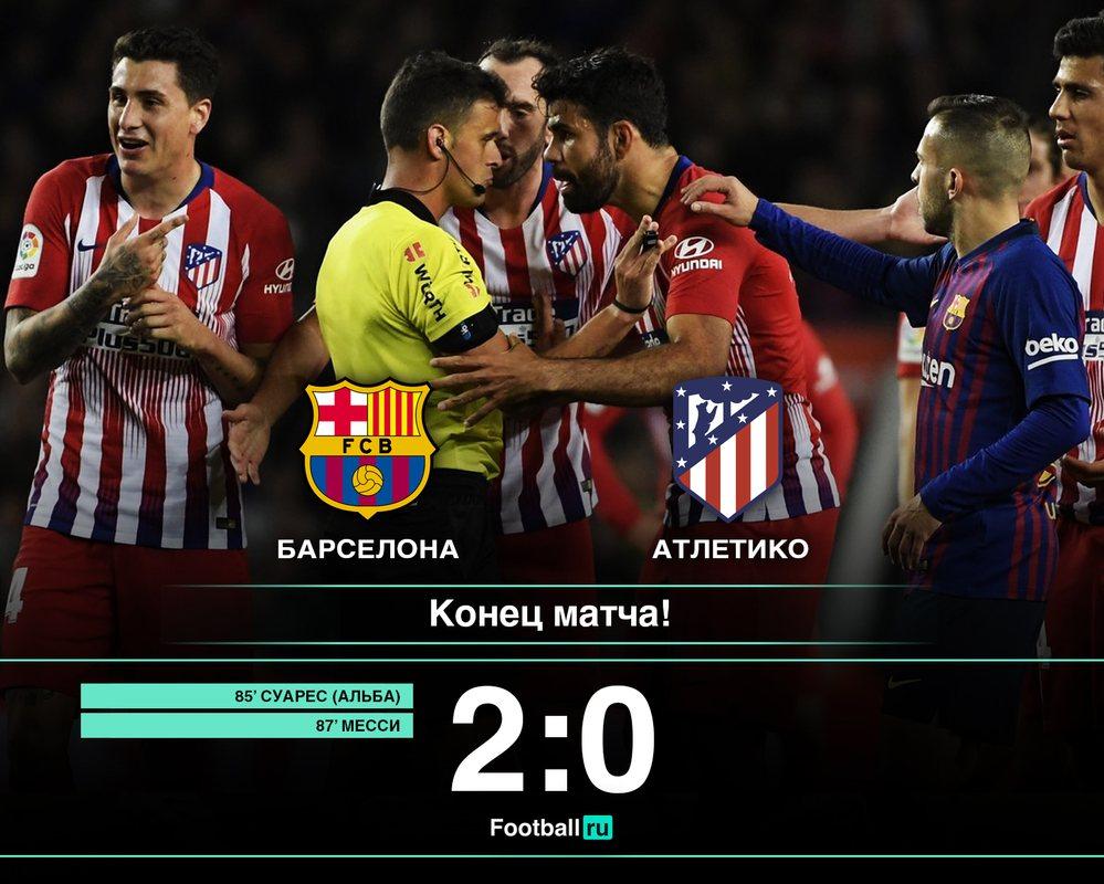 Барселона в большинстве дожала Атлетико
