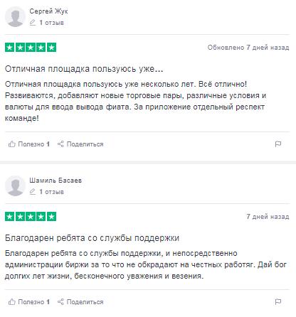 Отзывы пользователей о бирже Kuna // Источник: ru.trustpilot.com