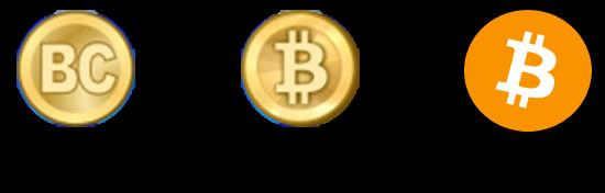 Эволюция символа биткоина