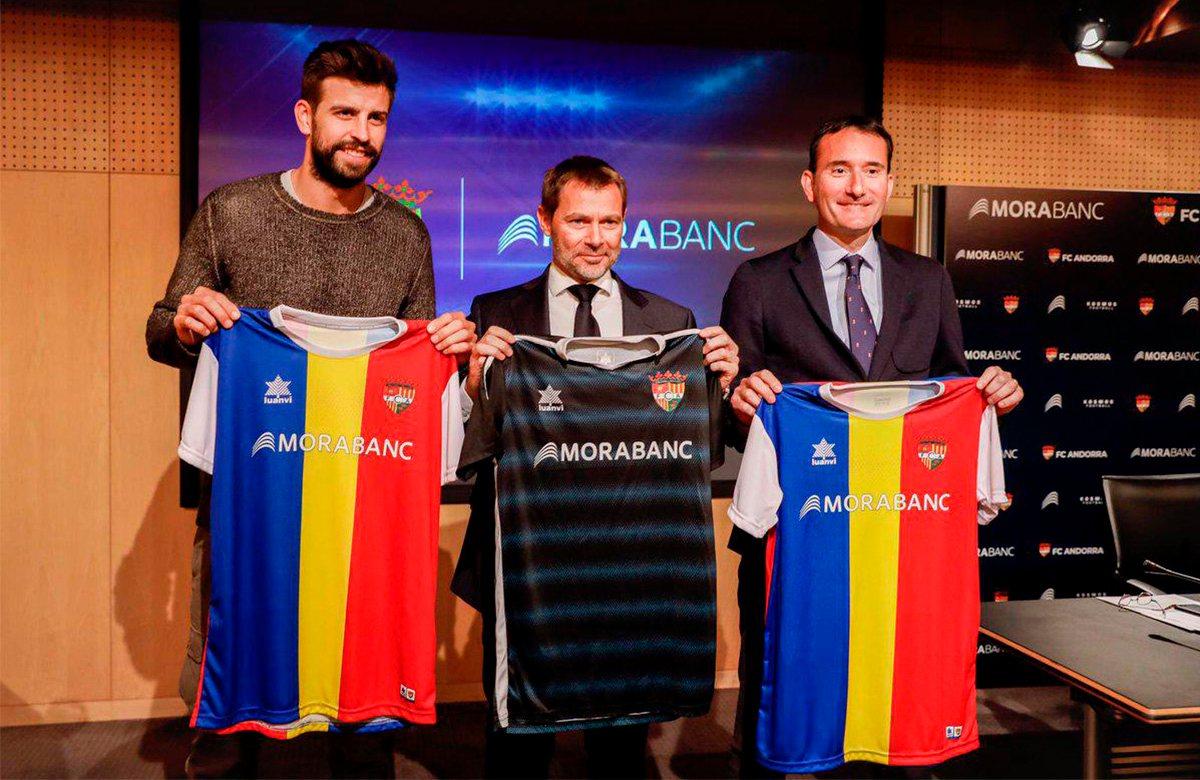 Пике во время официальной презентации покупки ФК Андорра