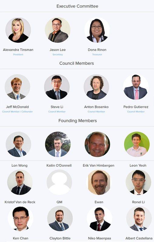 Основатели и руководящий состав NEM Foundation