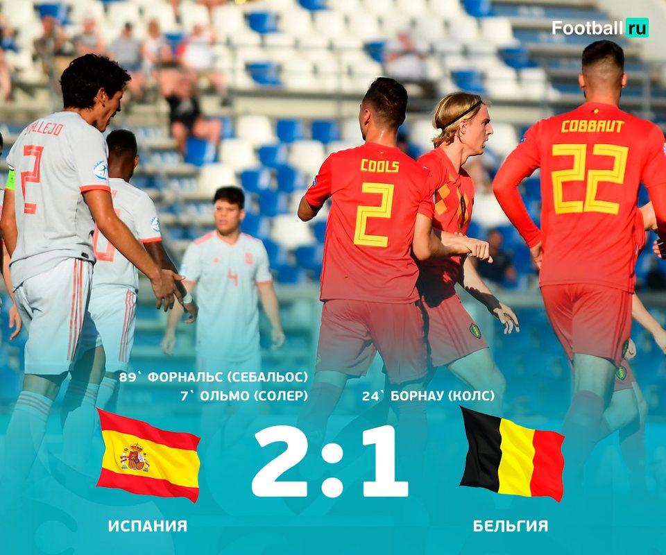 Испания обыграла Бельгию 2:1
