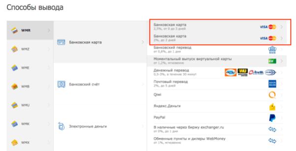 Обмен биткоинов на фиат в системе Webmoney