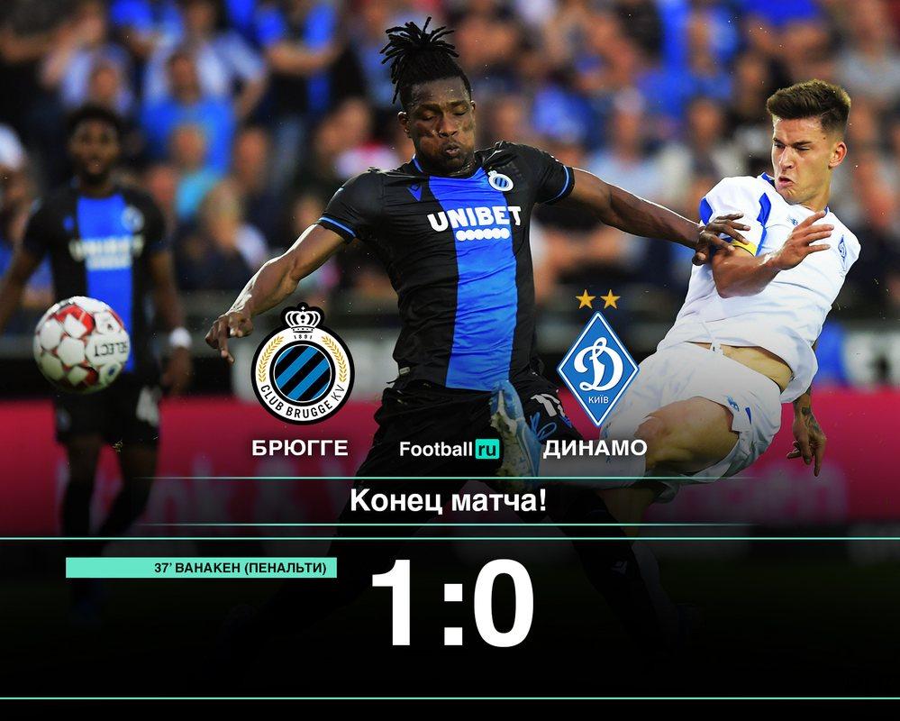 Динамо Киев проиграло Брюгге со счетом 0:1
