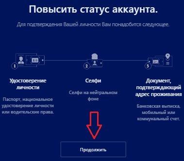 Верификация пользователя
