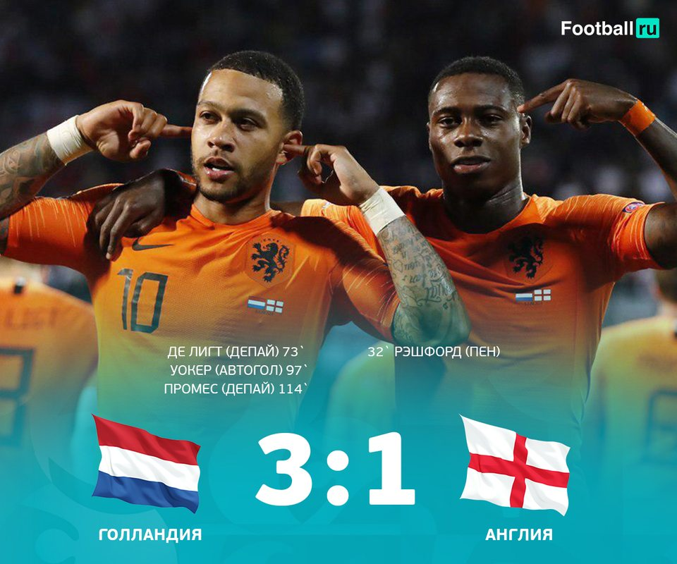 Голландия выходит в финал Лиги Наций