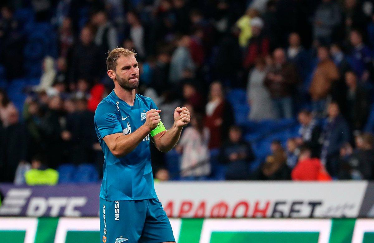 Иванович провел 100 матчей за Зенит