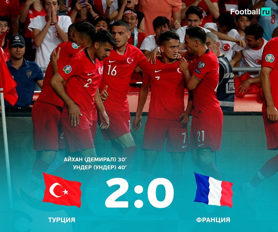 Турция сенсационно обыграла Францию
