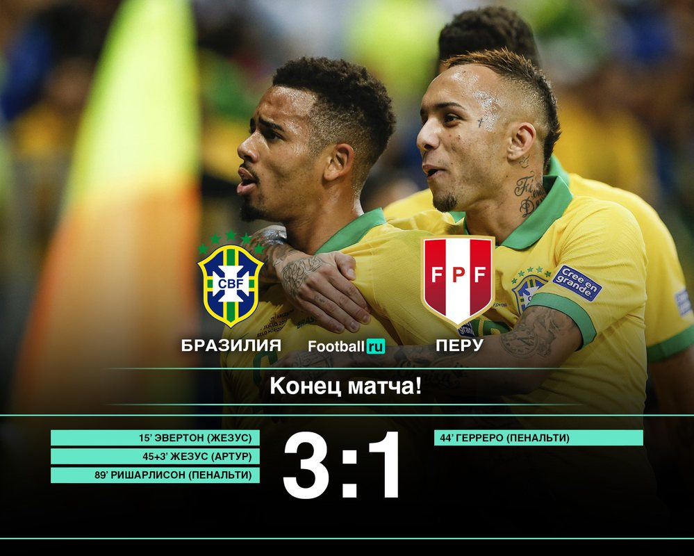 Бразилия - победитель Копа Америка