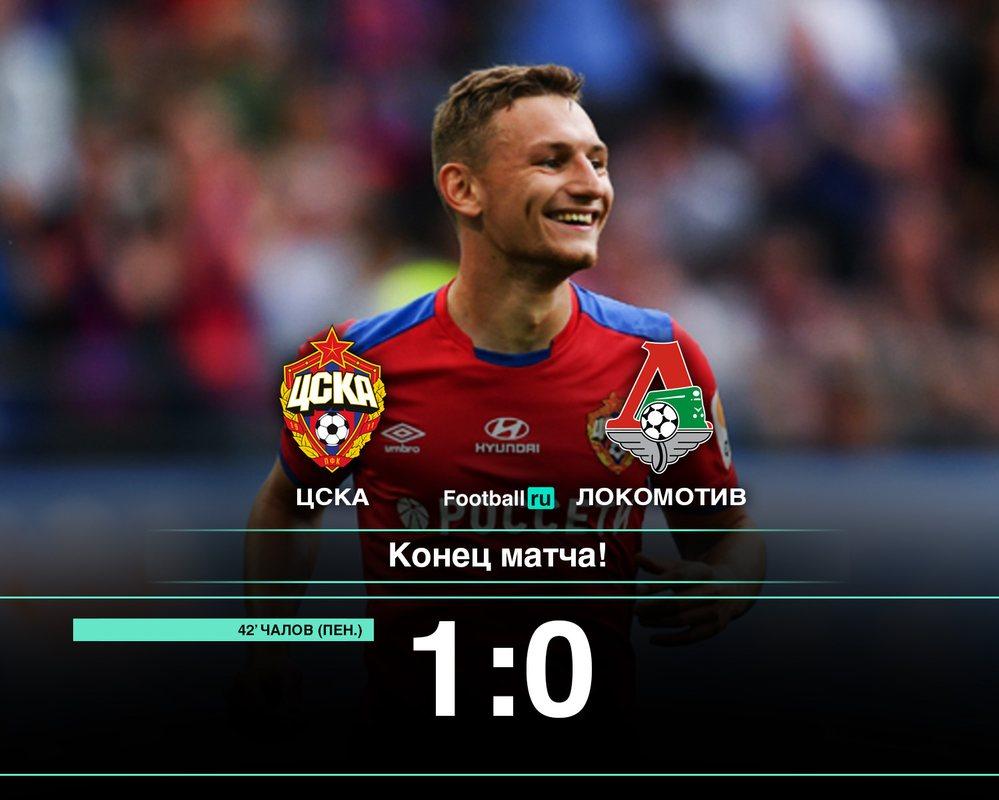ЦСКА с минимальным счетом переиграл Локомотив (1:0)