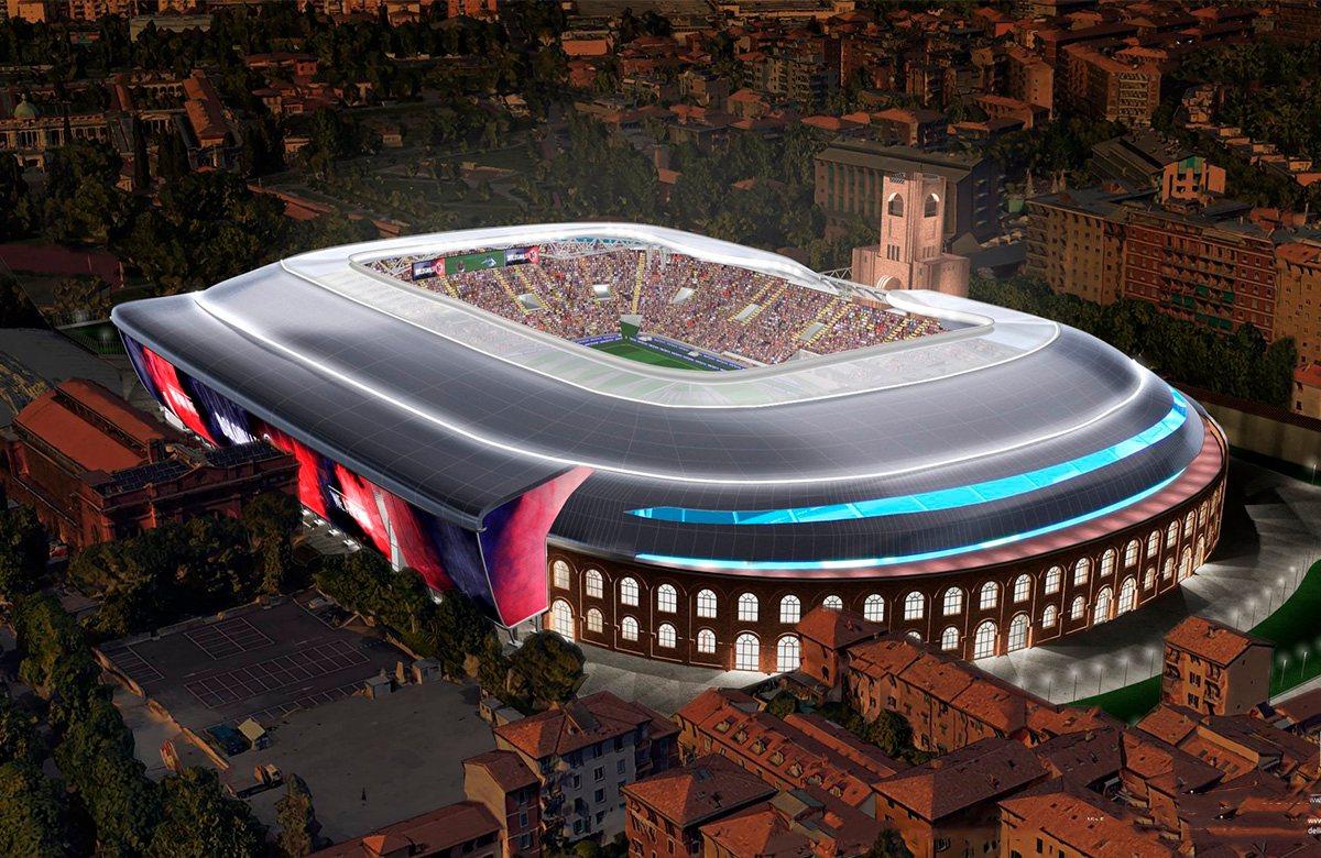 Проект стадиона Болоньи Ренато Даль'Ара