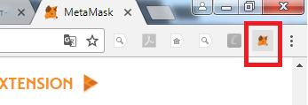 Иконка плагина MetaMask в браузере Chrome